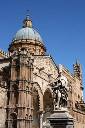Palermo cathedral, Sicily island in Italy. Famous church. Stock Photo - 11805313