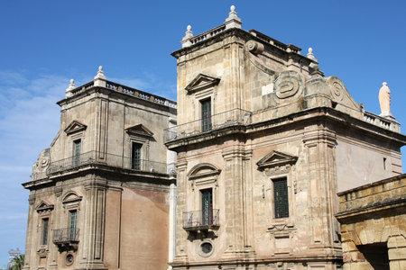 felice: Palermo, Sicily island in Italy. Porta Felice - old landmark. Editorial