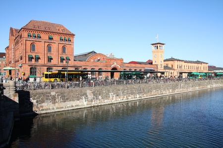 Malmo, Sweden - Central Station. Train station with bus stops and hundreds of parked bicycles. Stock Photo - 11805315