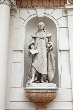 anton: Anton von Pergen statue in Vienna, Austria. Sculpture of historic figure - politician, diplomat, geheimrat and propagator of Josephinism. Editorial