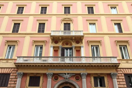 Rome, Italy - ornate palace building, old landmark