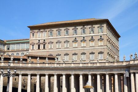 Buildings in Vatican, the Holy See within Rome, Italy. Part of Saint Peters Basilica.