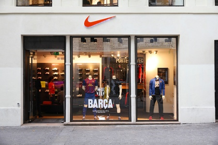 PARIS - JULY 20: Nike store on July 20, 2011 in Paris, France. Nike is one of most recognized sports fashion brands worldwide. It exists since 1964 and had US$ 19 billion revenue (2010).
