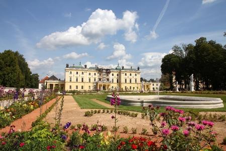 Bialystok, Poland - city architecture. Podlaskie province. Famous Branicki Palace and its gardens. Stock Photo
