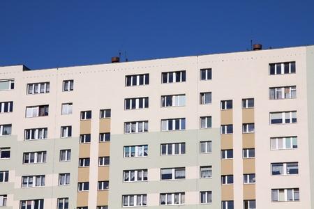 gigantesque: Pologne - Gdansk ville (�galement connu nas Dantzig) dans la r�gion de Pom�ranie. Zabianka district - gigantesques immeubles post-socialistes.