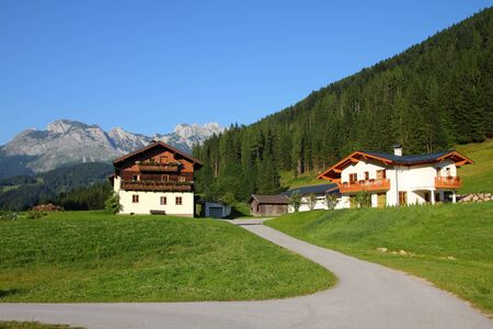 Alps in Austria. Dachstein mountains - Annaberg im Lammertal, alpine town. Stock Photo - 12200995