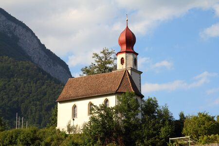 sargans: Sargans in Sarganserland region of canton St. Gallen. Alps in Switzerland. Stock Photo
