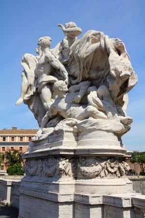 vittorio emanuele: Rome, Italy. One of the statues at famous Ponte Vittorio Emanuele II.