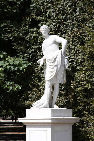 Vienna, Austria - statue of Meleager in Schoenbrunn Gardens, a UNESCO World Heritage Site.
