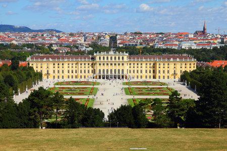 Vienna, Austria - Schoenbrunn Palace, a UNESCO World Heritage Site. Editorial