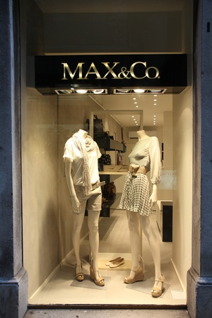 SPLIT, CROATIA - JUNE 27: Max&Co store on June 27, 2011 in Split, Croatia. Founded in 1986, the luxury fashion brand operates 450 single-brand boutiques and shop-in-shops worldwide. Stock Photo - 12641080