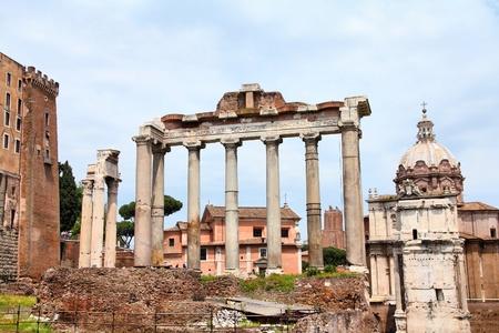 Rome - ancient Roman Forum. photo
