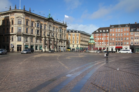 Copenhagen, Denmark - Kongens Nytorv, city square. Oresund region. Stock Photo - 12858053