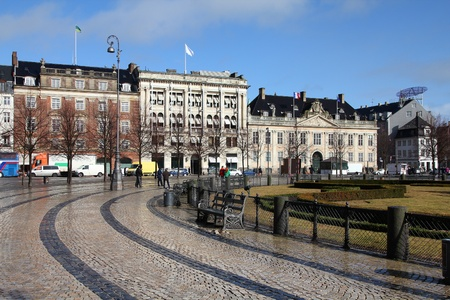 Copenhagen, Denmark - Kongens Nytorv, city square. Oresund region. Stock Photo - 12858251