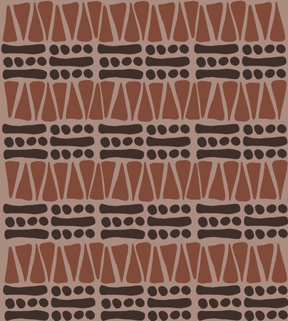Tribal african pattern doodle - simple background texture Vector