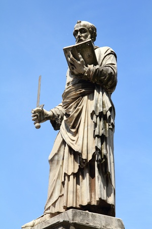 Saint Paul statue at Ponte Sant Angelo in Rome, Italy