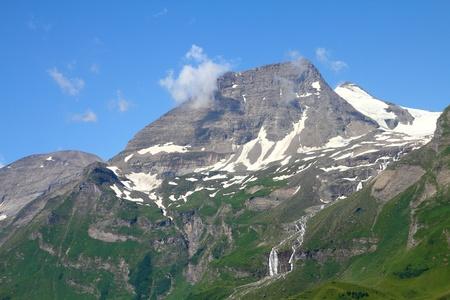 hohe tauern: Alps in Austria. Hohe Tauern National Park. Hohe Dock mountain, 3348m high. Stock Photo