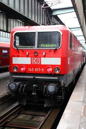 STUTTGART, GERMANY - JULY 24: Deutsche Bahn Regio train on July 24, 2010 in Stuttgart, Germany. DB is a profitable national railway company with 2.3bn EUR income for 2011. Stock Photo - 13022727