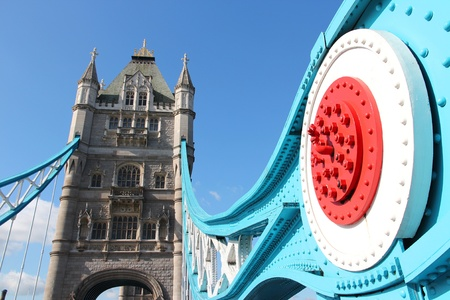 of the united kingdom: London, United Kingdom - famous Tower Bridge. Old landmark.