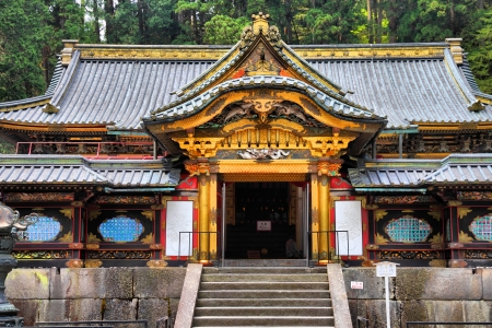 Nikko, Japan - Part of Rinno-ji Buddhist temple. Tayiu-in - mausoleum of Tokugawa Iemitsu, famous shogun. Stock Photo - 13909755
