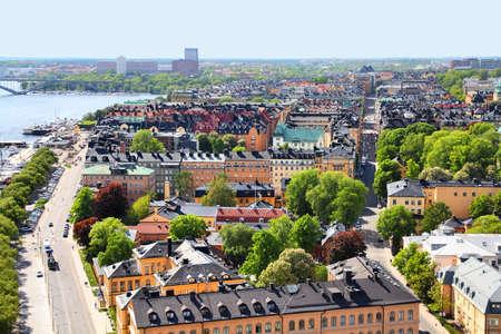 Stockholm, Sweden. Aerial view of Kungsholmen district. photo