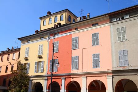 piacenza: Piacenza, Italy - Emilia-Romagna region. Colorful architecture.