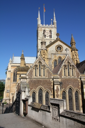 southwark: London, United Kingdom - famous Southwark Cathedral church