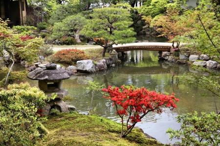 bassin jardin: Nara, au Japon (r�gion du Kansai), Jardin Isuien de l'�re Meiji.