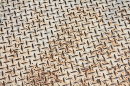 Rusty diamont plate steel floor. Metal background. Stock Photo - 14024631