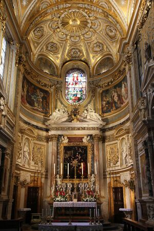 anima: Rome - Church of Santa Maria dell Anima. Catholic church interior in Italy.