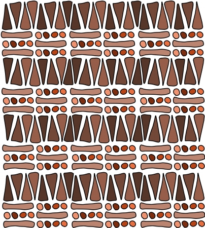 Tribal african pattern doodle - simple background texture Stock Vector - 14074283