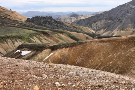 Iceland mountains. Famous volcanic area with rhyolite rocks - Landmannalaugar. photo