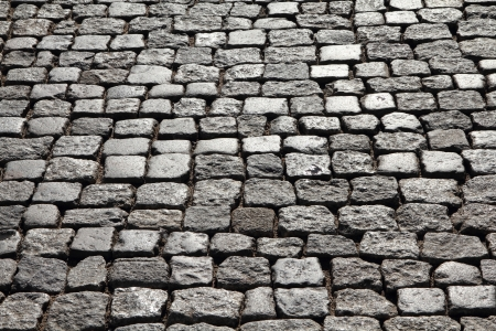 cobbled: Cobblestone background texture. Cobbled street in Gdansk, Poland.