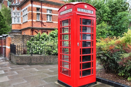 London, United Kingdom - red telephone box close-up. photo