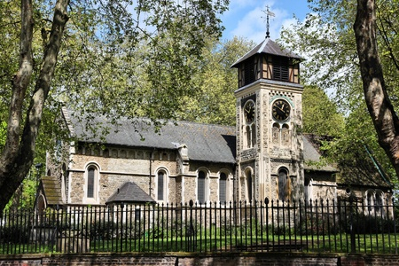 old church: London, United Kingdom - St Pancras Old Church in Somers Town district