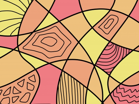 Aboriginal colorful art background - stained glass abstract lines. Vector