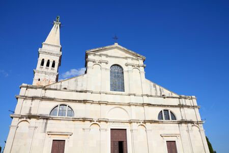 Croatia - Rovinj on Istria peninsula. Baroque church - Saint Euphemia's basilica. photo