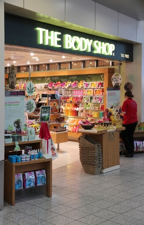 LONDON - MAY 16: The Body Shop store on May 16, 2012 at Stansted Airport, London. Body Shop is part of famous LOreal group and has 2605 stores worldwide (2010).