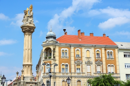 western european: Szombathely, Hungary. City in Western Transdanubia region. Old town view with . Stock Photo
