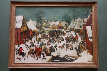 VIENNA - SEPTEMBER 8: Painting in Museum of Art History on September 8, 2011 in Vienna. With 559k visitors in 2010, the museum is among 100 most visited museums worldwide. The painting is Infanticide at Bethlehem by Pieter Brueghel the Younger.