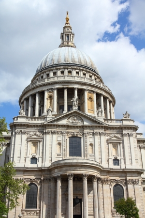 London, United Kingdom - famous St. Paul's Cathedral church Stock Photo - 15094806