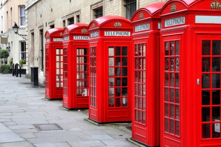 phonebox: London, United Kingdom - red telephone boxes of Broad Court, Covent Garden.