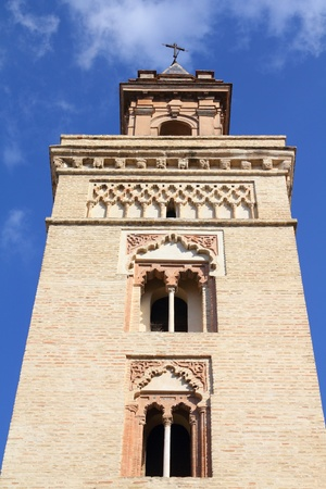 marcos: Sevilla in Andalusia, Spain. Saint Marks church (Iglesia San Marcos). Stock Photo