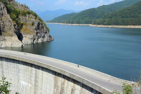 Vidraru Dam on Arges River in Transylvania, Romania. Hydroelectric power station. Stock Photo - 15467134