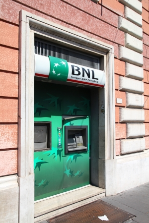 trillion: ROME - APRIL 9: BNP Paribas branch on April 9, 2012 in Rome, Italy. Formed through merger in 2000, the bank is currently largest worldwide by assets ($2.68 trillion USD).