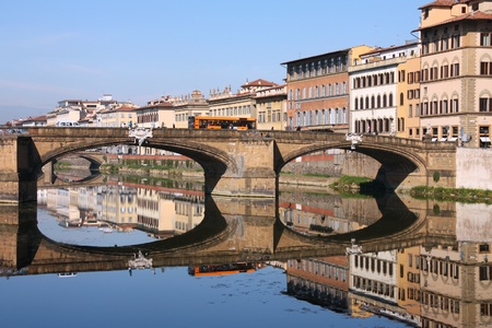 arno: Florence, Italy. Beautiful cityscape with river Arno.