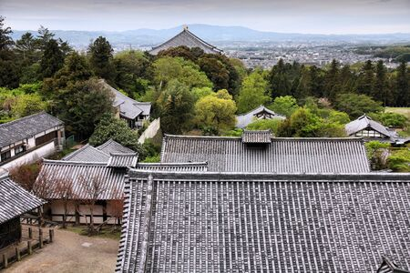 nara park: Nara, Japan (Kansai region) - old city  Todai-ji temple complex and cityscape.