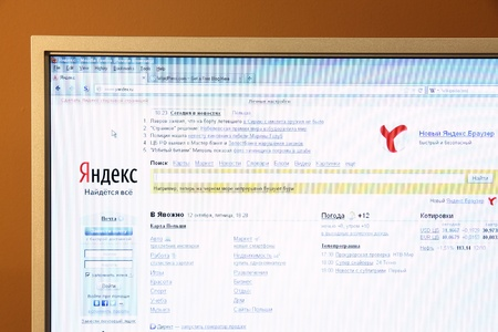 WARSAW, POLAND - OCTOBER 12: Yandex website on October 12, 2012 in Warsaw, Poland. According to Alexa, Yandex is the most visited Russian language website in the world. Stock Photo - 15741033