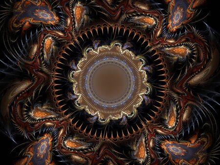 lsd: Graphics texture. Computer rendered background. 3D fractal. Intricate patterns - LSD trip concept.