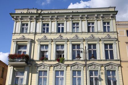 tenement: Poland - Bydgoszcz, city in Kuyavia (Kujawy) region. Old town tenement, beautiful landmark.